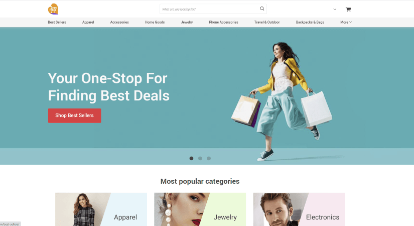 A landing page with a clear visual hierarchy