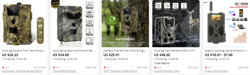 dropship outdoor gear cameras