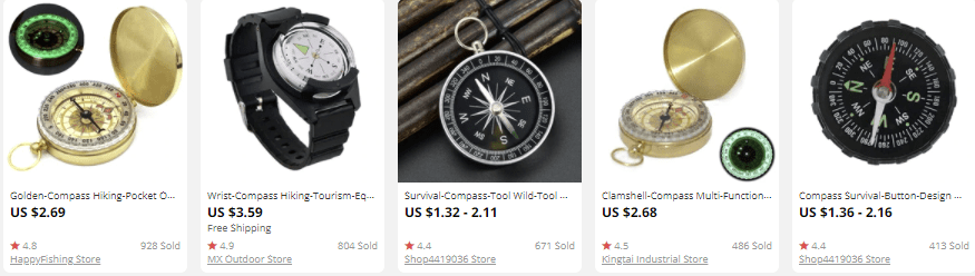 dropship outdoor gear compass