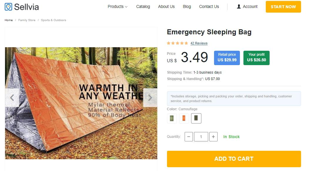 Emergency sleeping bag as an example of useful survival gear
