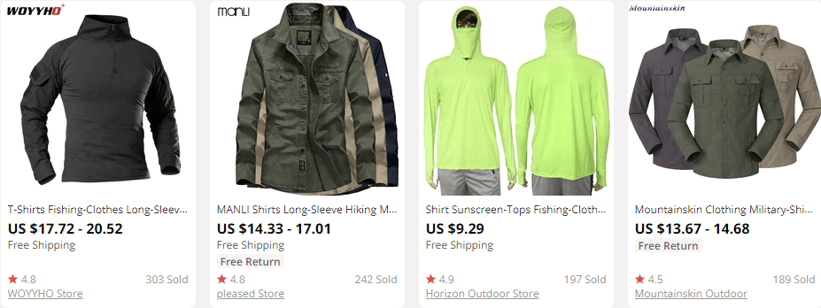 dropship outdoor gear shirts