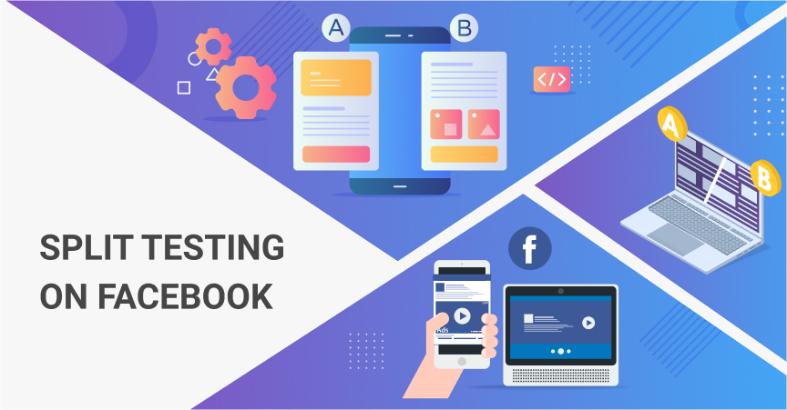 By using split testing on Facebook, one can choose the most efficient marketing materials before investing in large-scale campaigns