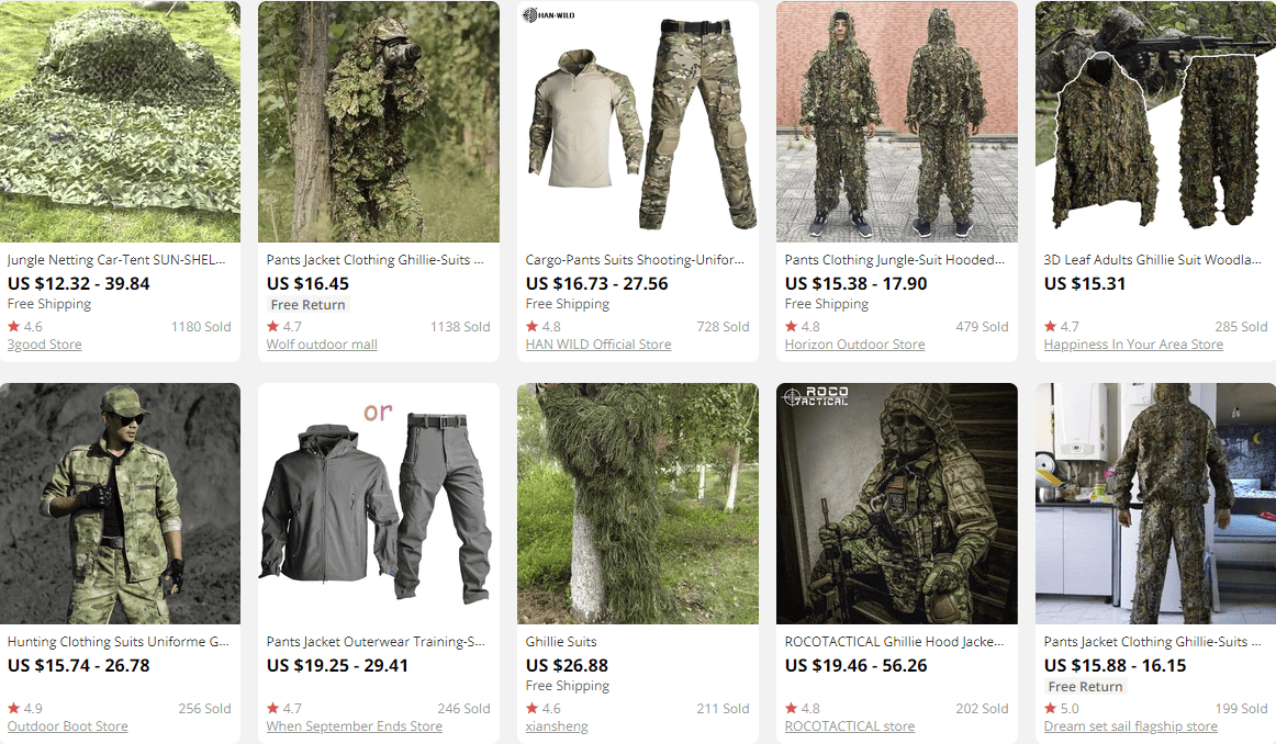 dropship outdoor gear suits