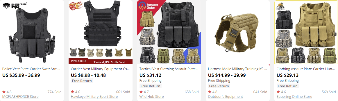 dropship outdoor gear vests