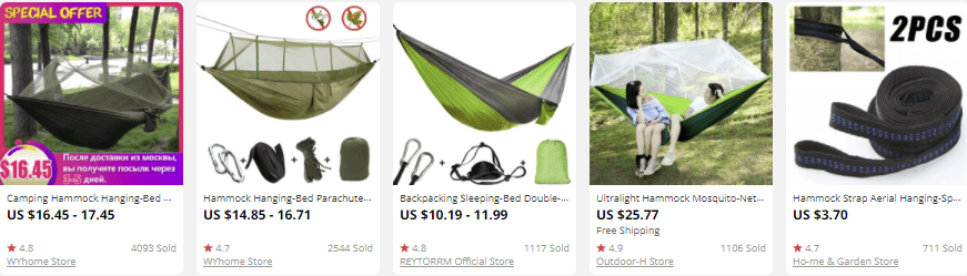 dropship outdoor gear hammocks