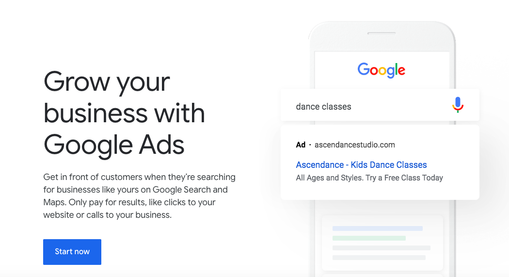 advertising online with Google Ads