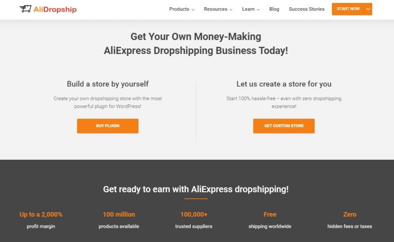 a picture showing options how to build an online store from scratch