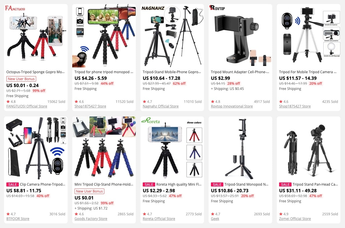 a picture showing why it is promising to sell live tripods