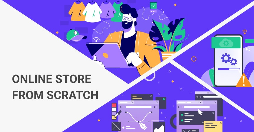 a cover of the article on how to build an online store from scratch