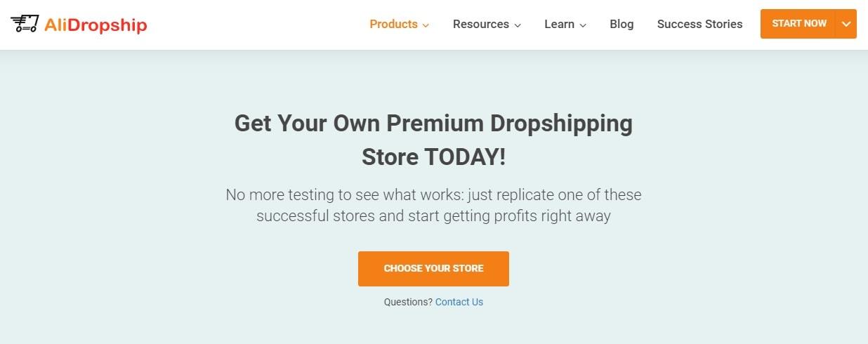 an image showing the option to start a dropshipping business easily