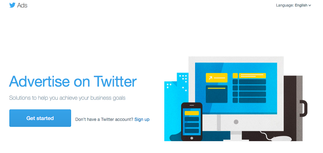 advertising online with Twitter