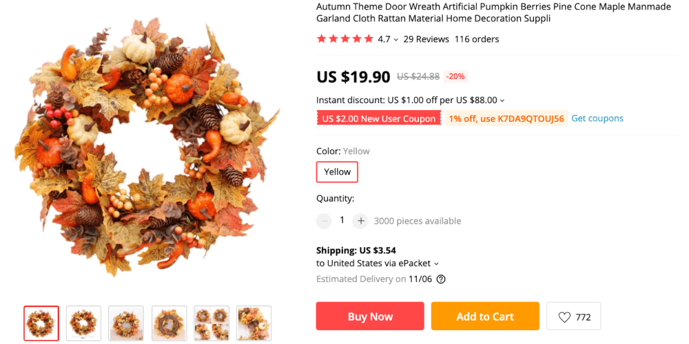 Best things to sell online to make money this autumn: door wreaths