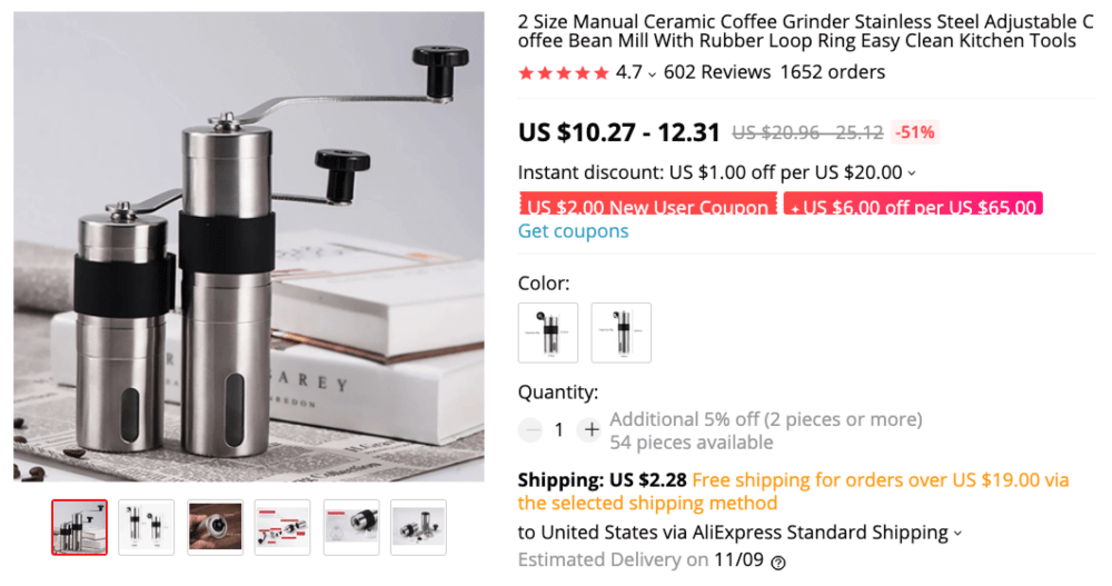 Best things to sell online to make money this autumn: coffee grinders