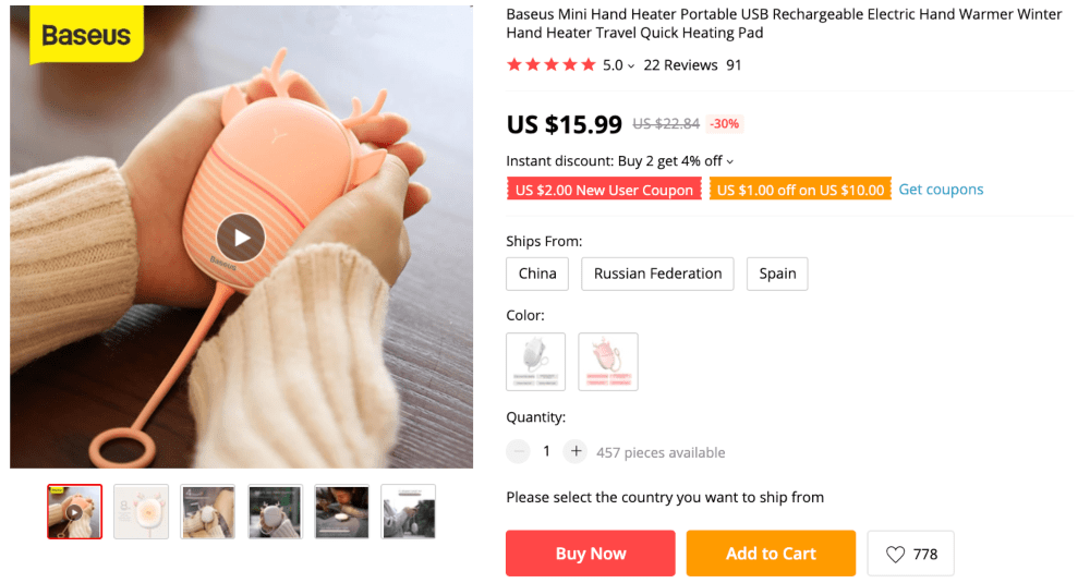 Best things to sell online to make money this autumn: portable hand heaters