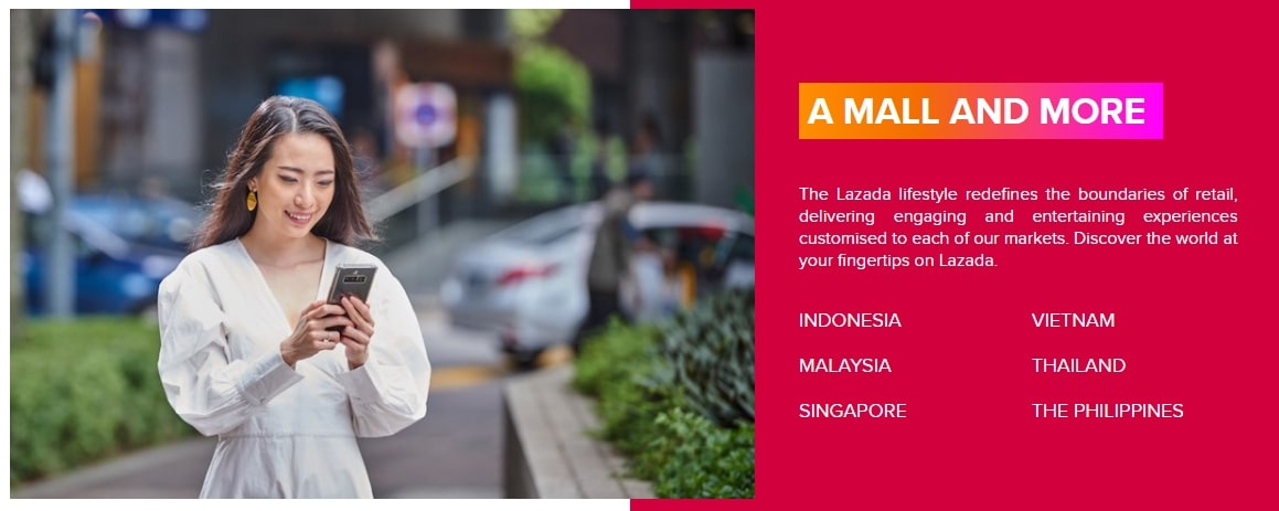 Being one of the top online marketplaces in Asia, Lazada, nevertheless, serves only 6 destinations