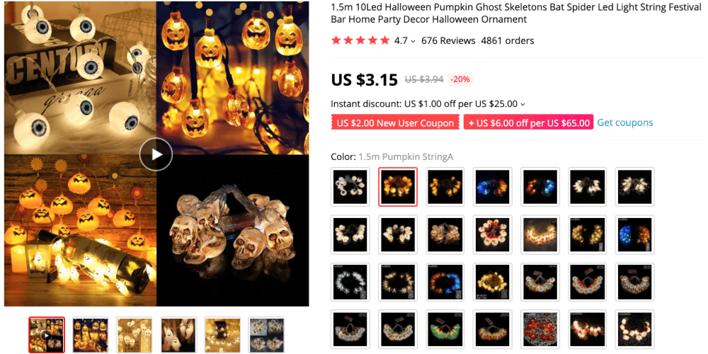 Best things to sell online to make money this autumn: LED Halloween decorations
