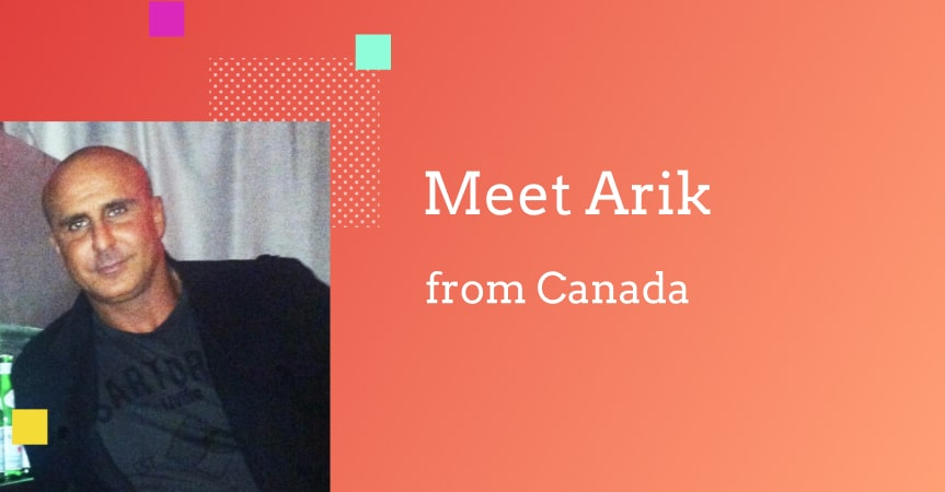 Meet Arik from Canada who experiments with dropshipping fashion clothes