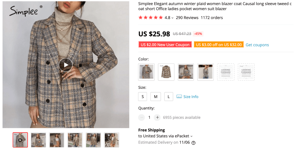 Best things to sell online to make money this autumn: plaid coats