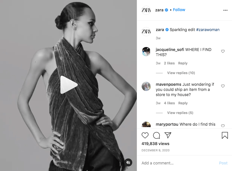 An example of promoting apparel through videos