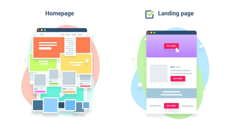 Homepage and landing page difference