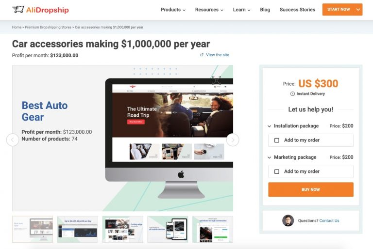 a picture showing how to start a profitable online store and make one million dollars a year