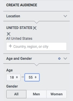 General demographics - Location, Age and Gender