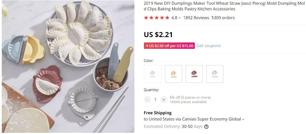 Dropship kitchen products dumpling mold