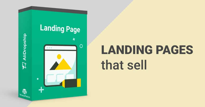 Create effective landing pages with AliDropship's Landing Pages add-on