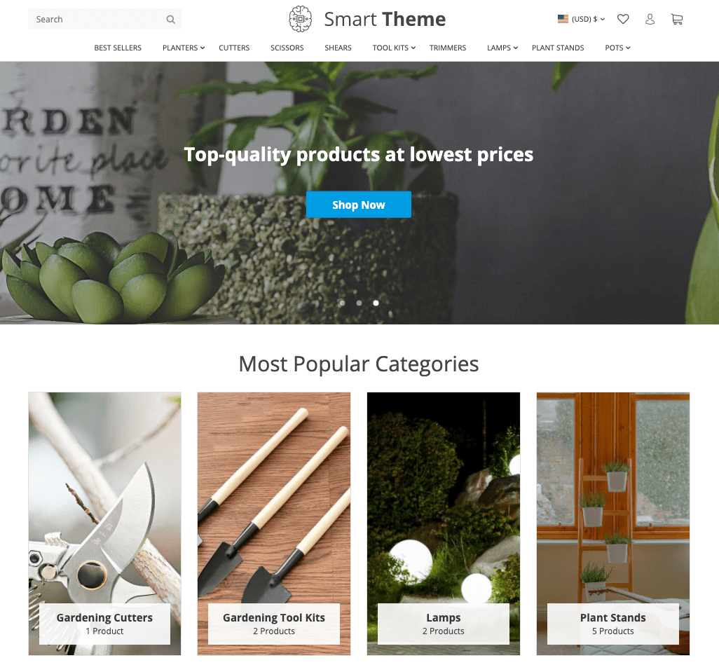 a picture that shows a brand new smart theme for online stores