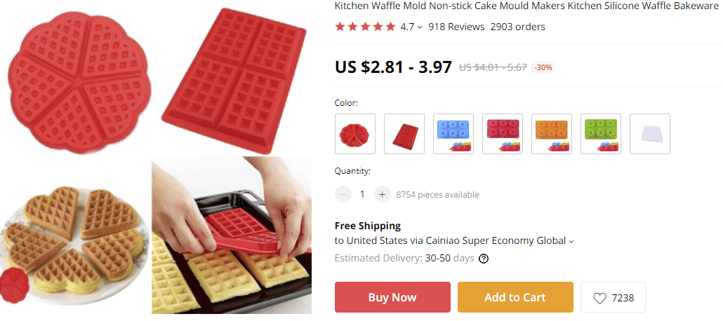 Dropship kitchen products waffle molds