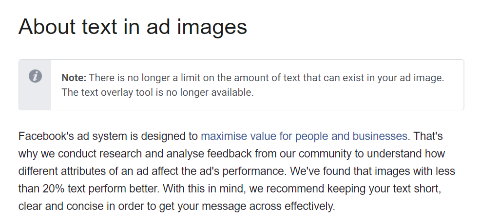 Facebook Updates 2020: New policy on texts percentage on ad images
