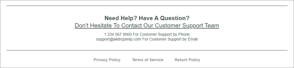 An example of a contact form appropriate for landing pages