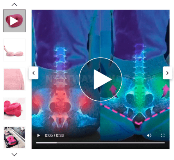 An example of an explanatory video integrated into a landing page