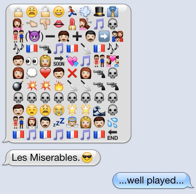An example of emoji storytelling