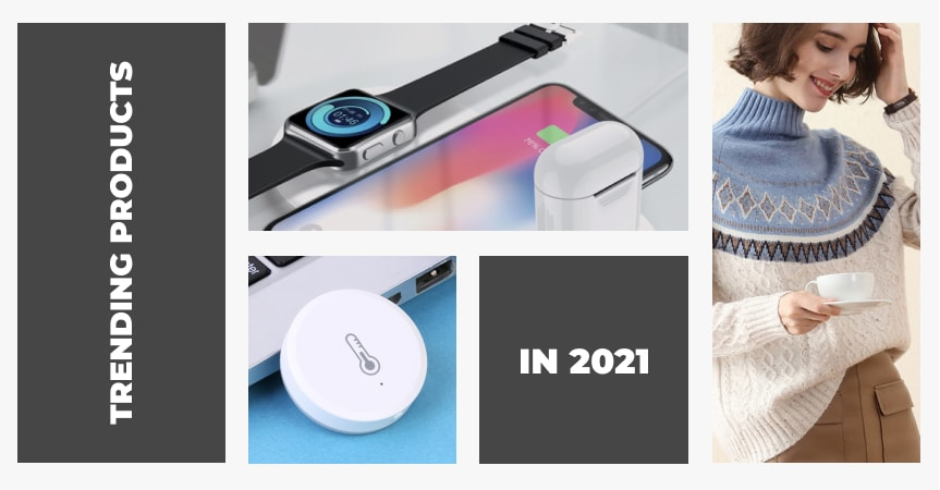 a cover of the article on trending products to sell online in 2021