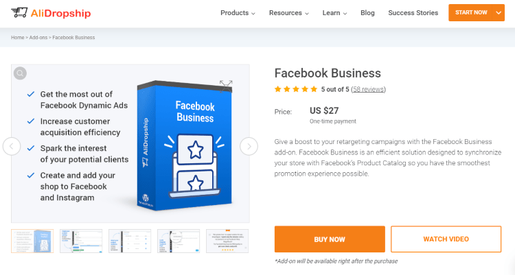 Facebook Business add-on: ecommerce tool for automated Facebook promotion
