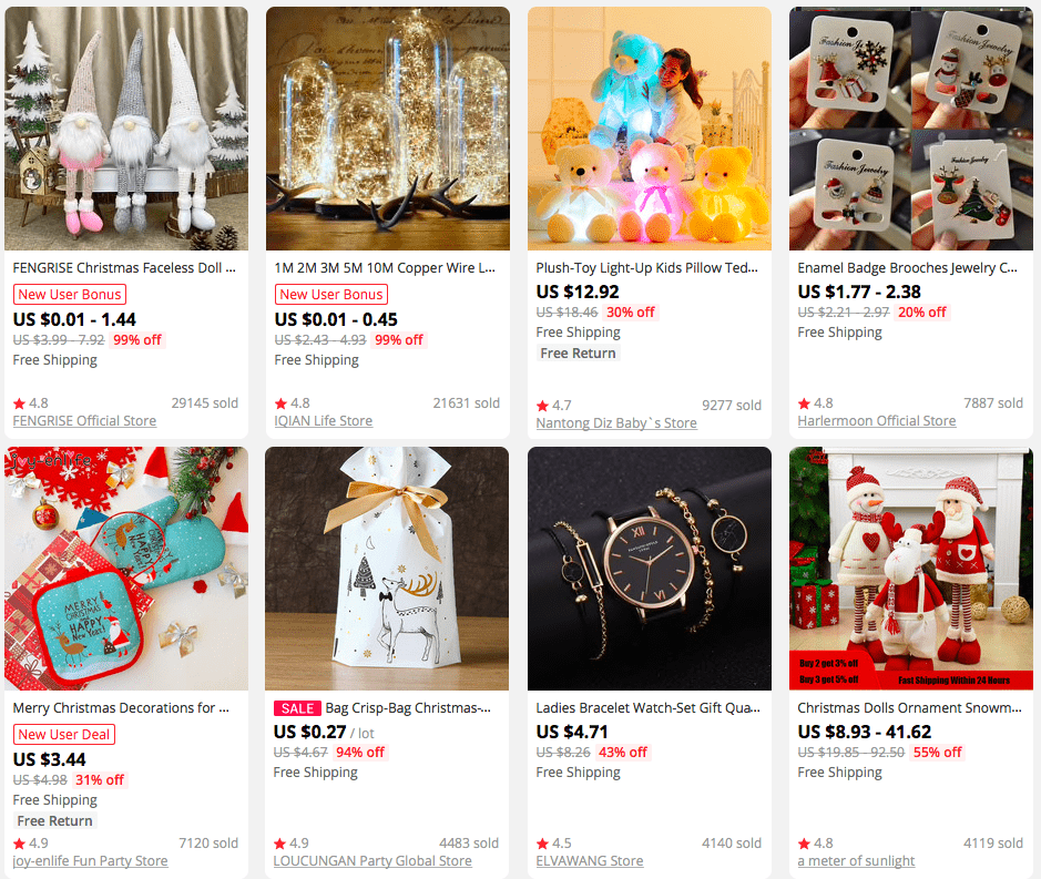 AliExpress products that can you can offer as Christmas presents