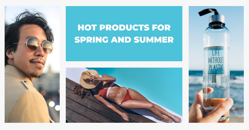 a cover of the article on hot products for spring and summer 2021