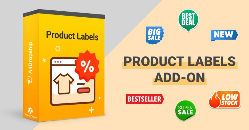 a cover of the article on product labels add-on