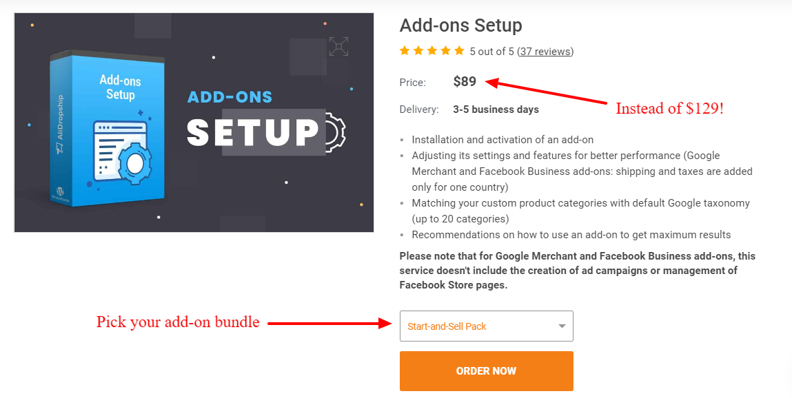 Instead of installing ecommerce tools for dropshipping manually, use AliDropship's add-on installation service