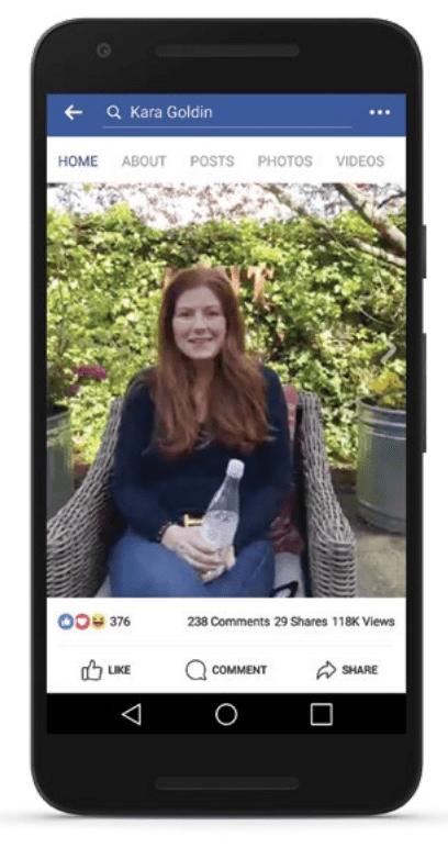 A Facebook influencer delivering a message Facebook Live