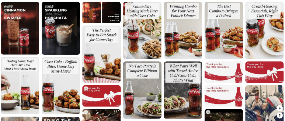 Coca-Cola account on Pinterest