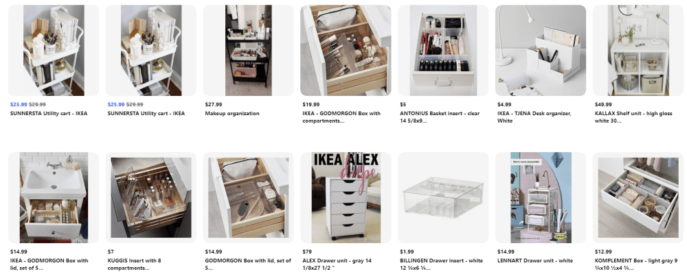 Ikea account on Pinterest