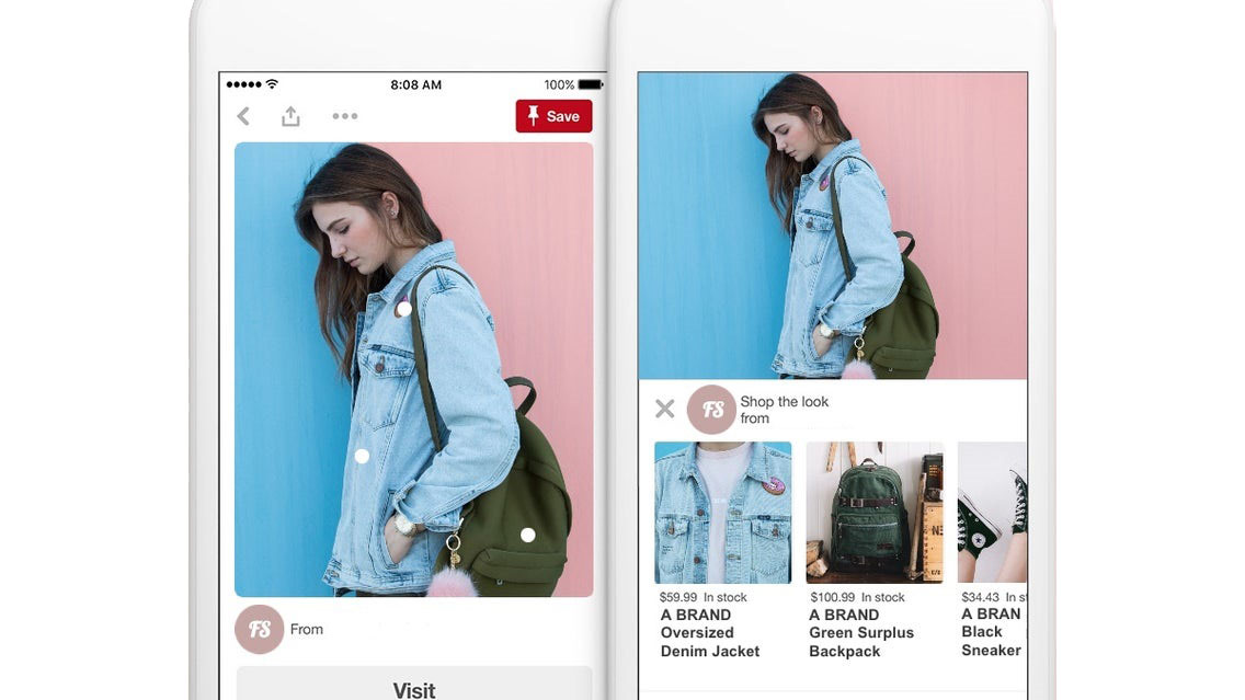 An example of a 'Shop the Look' pin on Pinterest