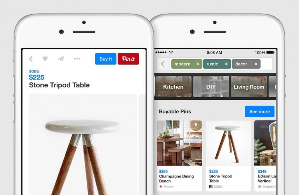 An example of a buyable pin on Pinterest