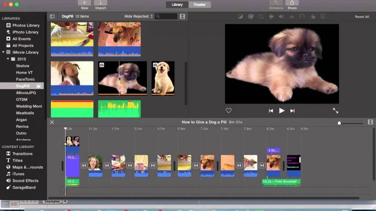 iMovie editing tool