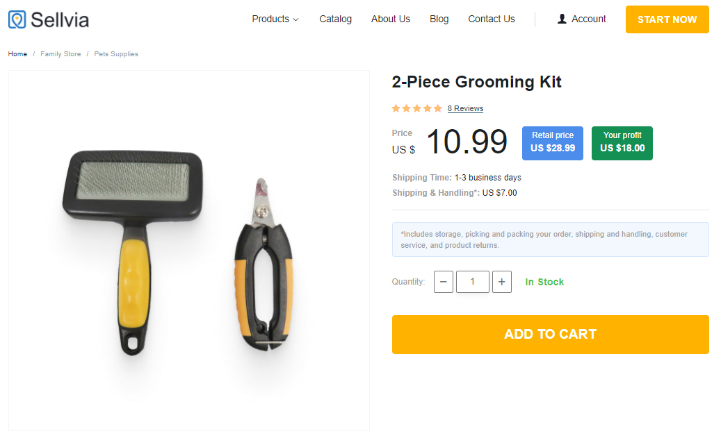 Pet grooming kit for dropshipping pet supplies