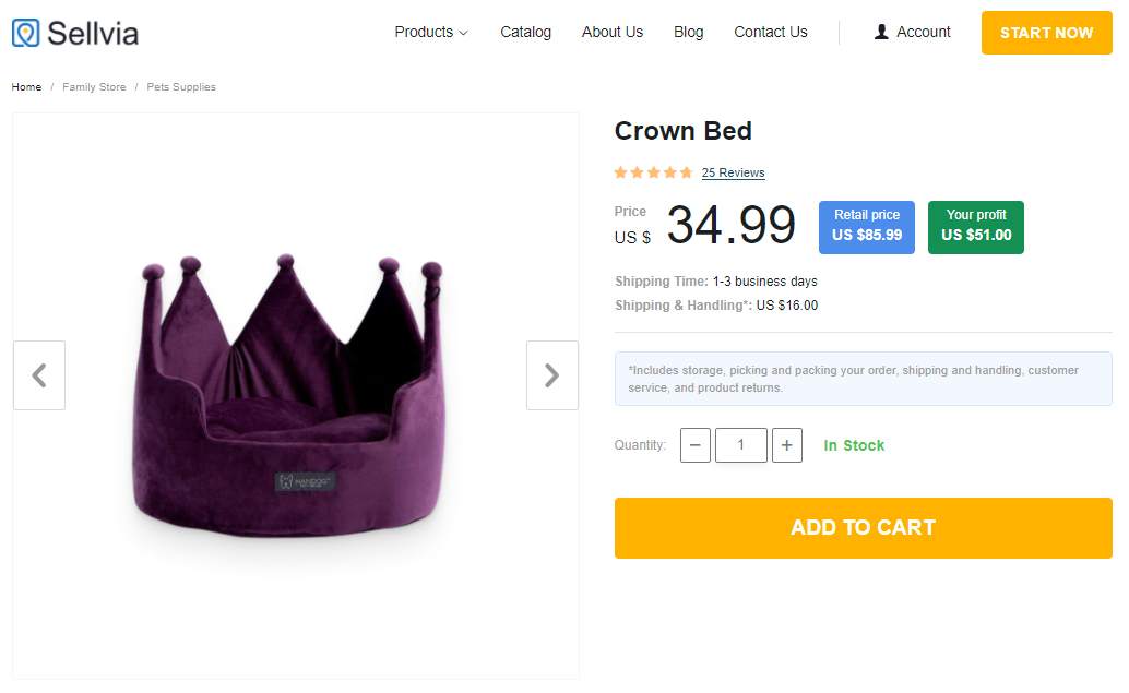 Crown-shaped bed for pets