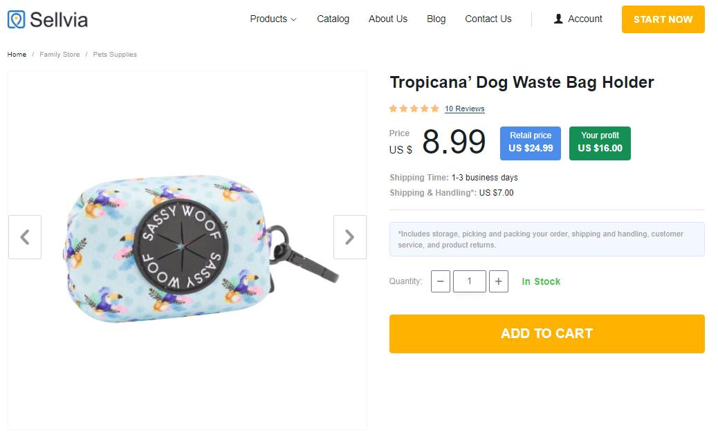 Dog waste bag holder