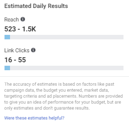 Checking the ad potential reach